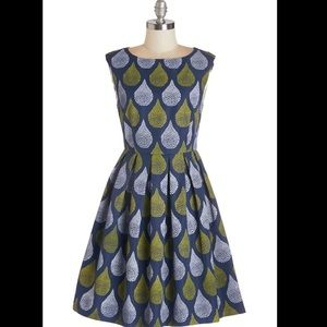 ModCloth Dropping by for a Visit dress in drops